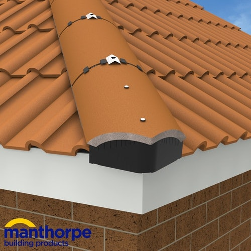Manthorpe Universal Hip End Closer in Brown - Pack of 10