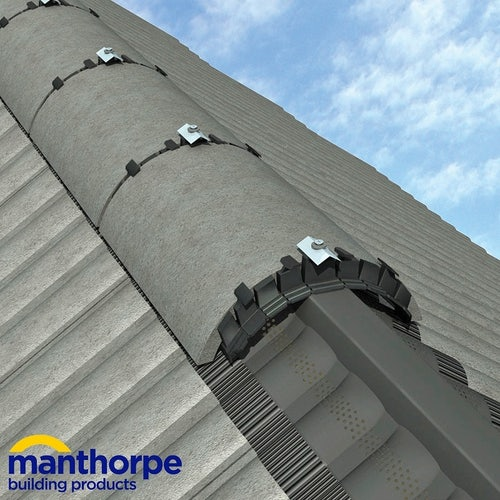 Manthorpe Roll Out Dry Vent Ridge System in Black - 3m Pack
