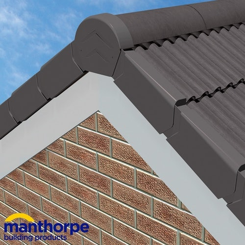 Manthorpe SmartVerge uPVC Dry Verge Unit - Left Hand (Grey)
