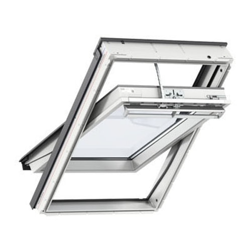 VELUX GGU PK08 006030 White Centre Pivot Solar INTEGRA Window 94x140cm