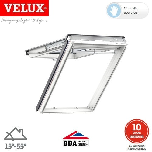Video of VELUX GPL CK04 2070 White Top Hung Window Laminated - 55cm x 98cm