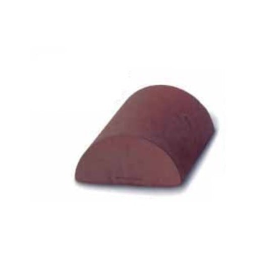 Dreadnought Clay Half Round Ridge Stop End 300mm - Red Smooth