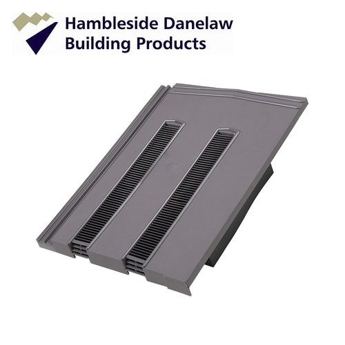 Hambleside Non Profile / Redland Mini Stonewold Tile Vent - Grey