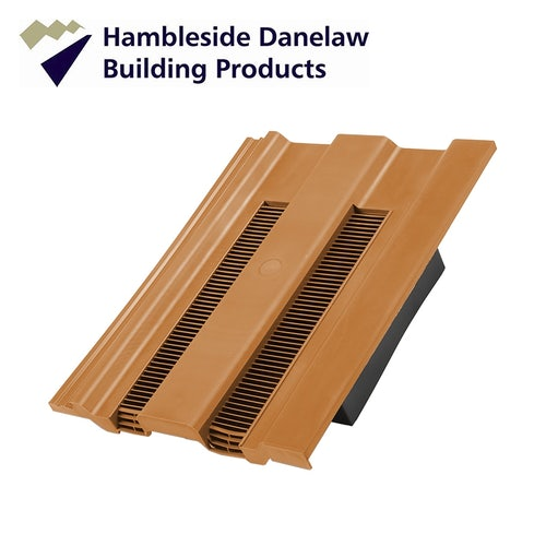 Hambleside Danelaw Castellated Flush Fit Roof Tile Vent - Terracotta