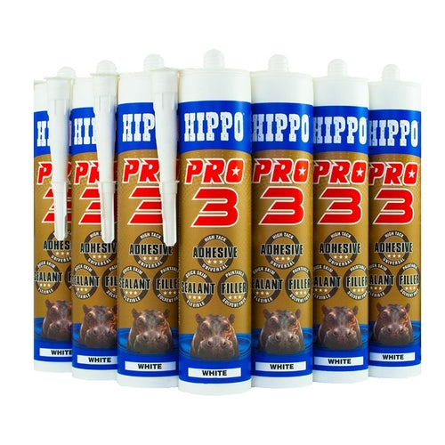 Hippo Pro 3 Adhesive Sealant & Filler 310ml Tube in Brown - Box of 12