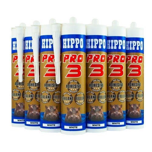 Hippo Pro 3 Adhesive Sealant & Filler 310ml Tube Natural - Box of 12