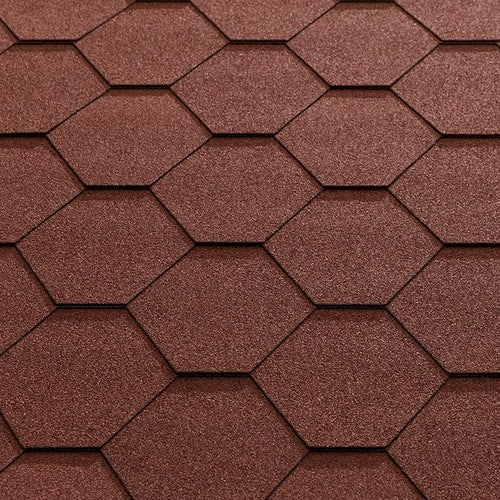 Katepal Super KL Hexagonal Bitumen Roofing Shingles (3m2) - Red