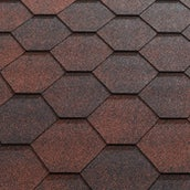 Katepal Super Jazzy Hexagonal Felt Roofing Shingles (3m2) - Red
