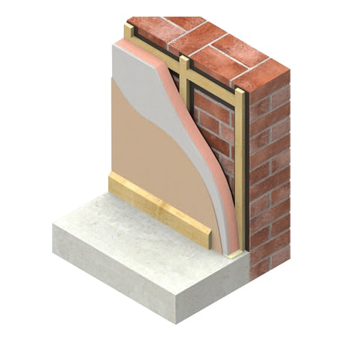 Insulated Plasterboard by Kingspan K118 Kooltherm 62.5mm - 34.56m2