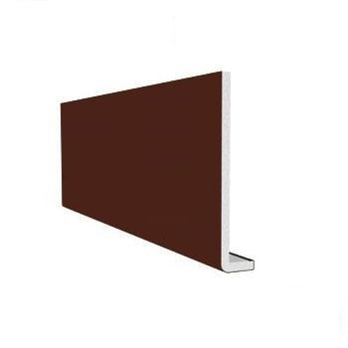 uPVC 410mm Fascia Board (10mm Double Edged Square) 2.5m - Leather Brown