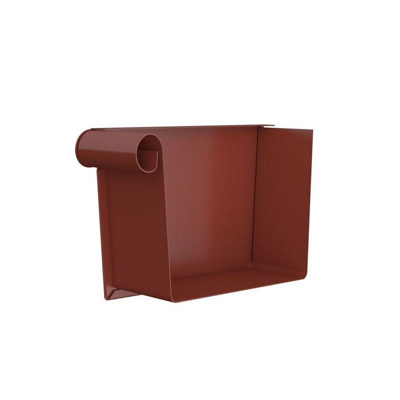 Video of Lindab Steel Rectangular Left Handed Stop End Painted Tile Red 140mm