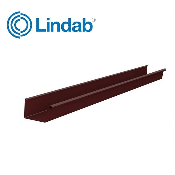 Video of Lindab Rectangular Gutter Painted Dark Red 140mm x 3m