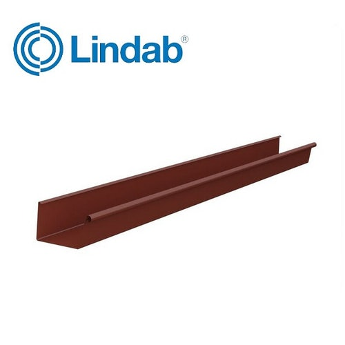 Lindab Rectangular Gutter Painted Tile Red 140mm x 3m