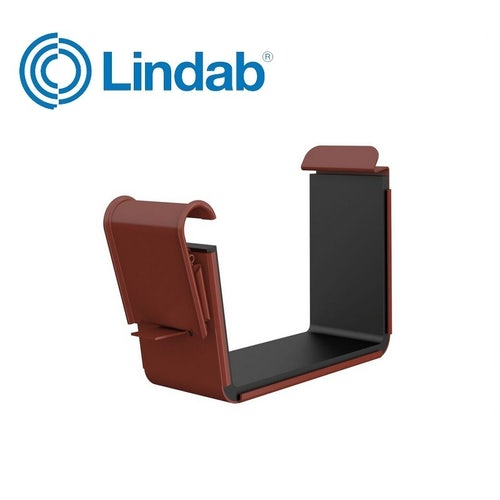 Lindab Rectangular Gutter Joint 140mm Painted Tile Red