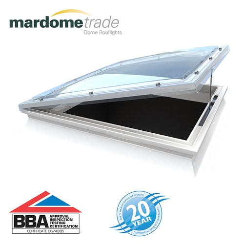 Mardome Trade Double Skin Opening Rooflight in Opal - 600mm x 600mm