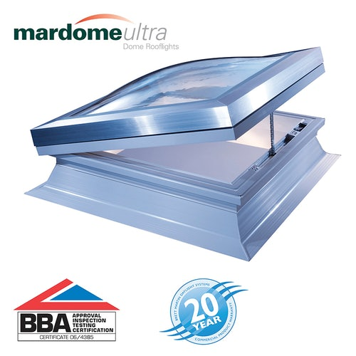 Mardome Ultra Double Skin Opening Rooflight in Clear - 1050mm x 1050mm