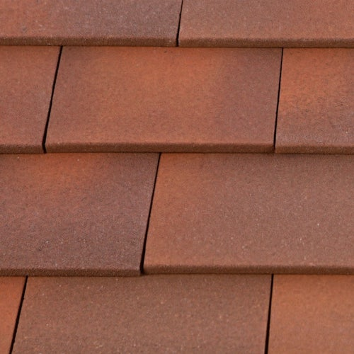 Marley Clay Plain Acme Single Camber Roof Tile & Half - Heather Blend