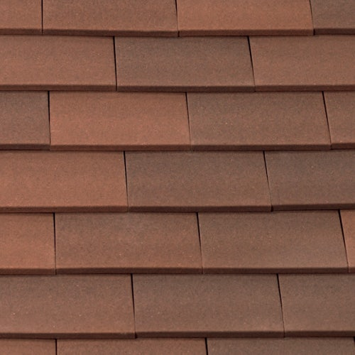 Marley Clay Plain Acme Single Camber Roof Tile - Heather Sandfaced