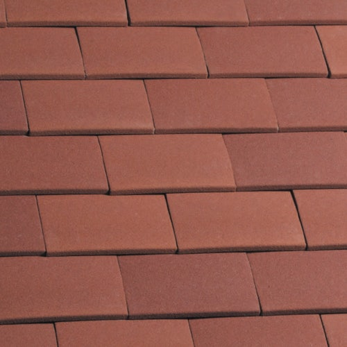 Marley Clay Plain Acme Single Camber Roof Tile & Half - Red Sandfaced