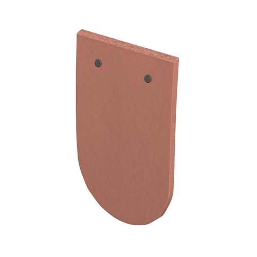 Marley Clay Plain Acme Single Camber Bullnose Tile - Red Smooth