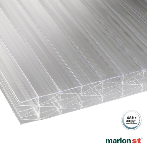 Marlon 25mm Clear Sevenwall Polycarbonate Sheet - 3000mm x 700mm