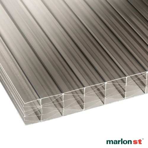 Marlon 25mm Bronze Sevenwall Polycarbonate Sheet - 2000mm x 900mm