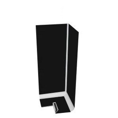 uPVC Fascia Board Corner (Square Edge) 600mm - Black Ash Woodgrain