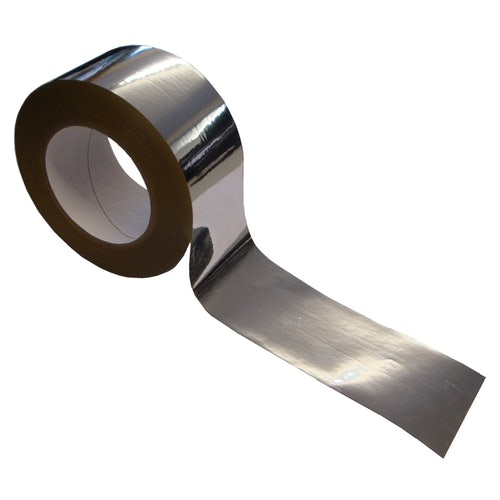 Novia Metallised High Adhesion Reflective Foil BOPP Tape - 50m x 60mm