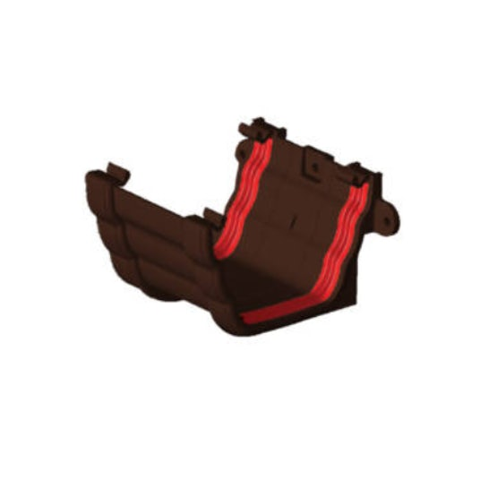 Freeflow Ogee Style Gutter Union Bracket - Brown