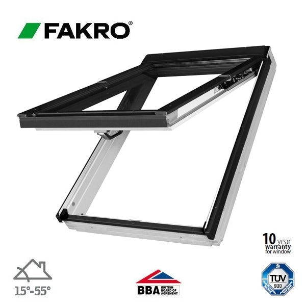 Video of Fakro PPP-V P2/16 uPVC Dual Top Hung Window Laminated - 55cm x 118cm