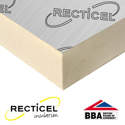 150mm Recticel Eurothane GP Rigid Insulation Board - 2.4m x 1.2m
