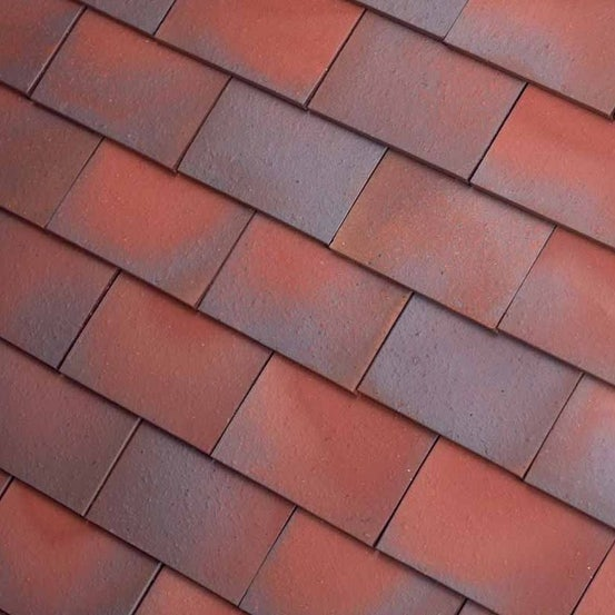 Dreadnought Premium Clay 45dg Valley Tile - Red Blue Blend Sandfaced