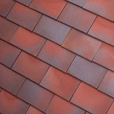 Dreadnought Premium Clay Bullnose Tile - Red Blue Blend Smooth