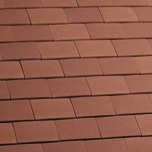 Marley Clay Plain Acme Single Camber Roof Tile - Red Sandfaced