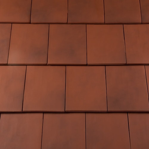 Redland Westminster LH Half Slate Clay Roof Tile - Old College Red