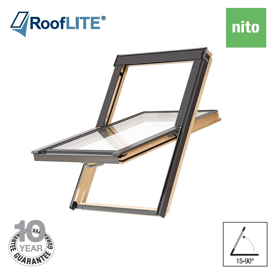 Video of RoofLITE NITO Centre Pivot Pine Roof Window - 114cm x 118cm