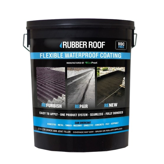Picture of a 2.5ltr tin of Rubber Roof Crack and Joint Filler