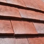 Dreadnought Rustic Clay Roofing Tile - Red Blue Rustic