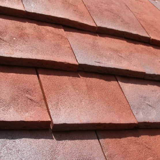Dreadnought Rustic Clay Eaves Tile - Red Blue Rustic