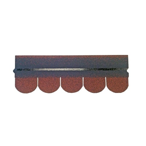 Roofing Superstore Scalloped Roofing Felt Shingles in Red - 3m2 Pack