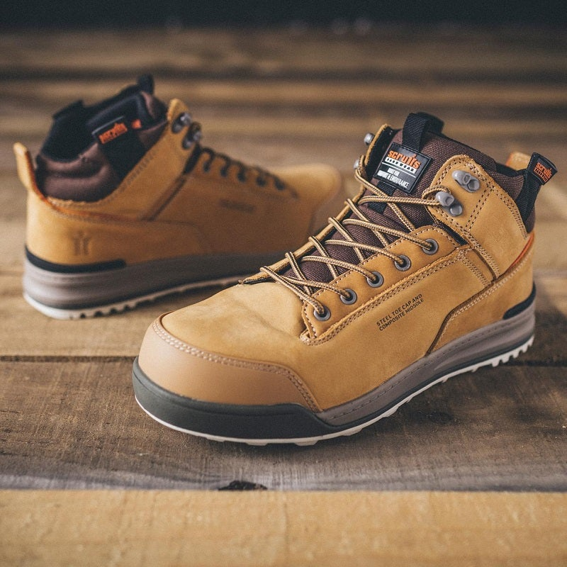 SCRUFFS SWITCHBACK SIZE 11 Work Boots in TAN colour