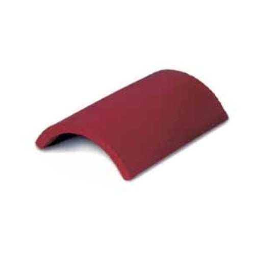Dreadnought Clay Third Round Tile - Plum Red Smooth