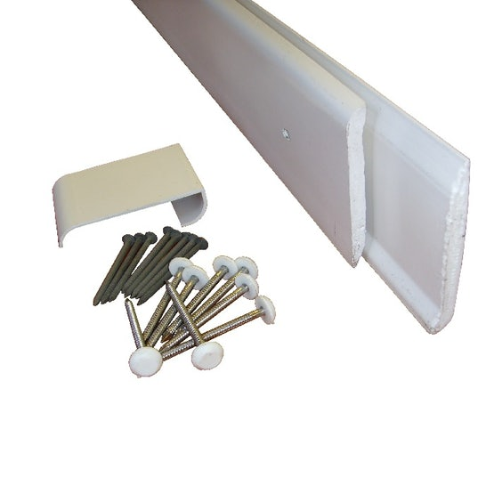 uPVC Gutter Drip Trim for EPDM Roof Systems White - 2.5m Length