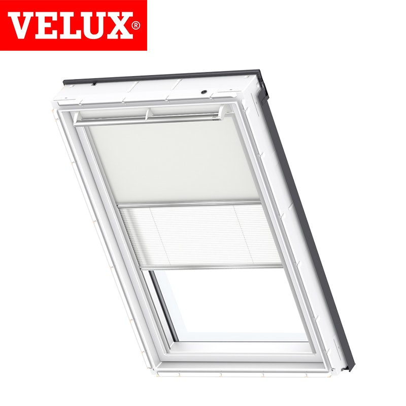 Video of VELUX Manual Duo Blackout Blind DFD CK04 1085 - Beige and White