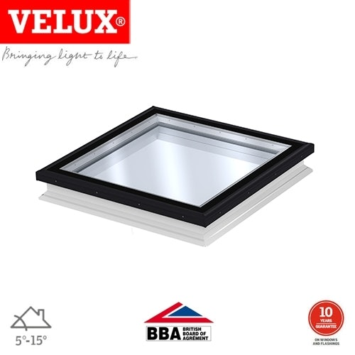 VELUX Fixed Flat Glass Rooflight Clear for Flat Roof - 900mm x 1200mm