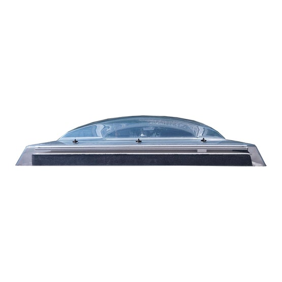 VELUX Flat Roof Polycarbonate Dome Only in Clear - 900mm x 900mm