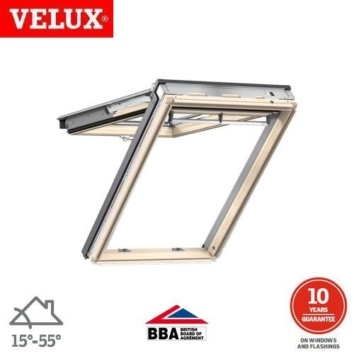 Video of VELUX GPL SK08 3070 Pine Top Hung Window Laminated - 114cm x 140cm