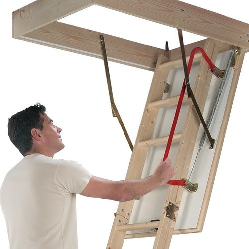 werner-76105-hideaway-timber-lift-ladder-secondary-1
