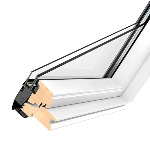 VELUX GPL MK08 2066 White Top Hung Window Triple Glazed - 78cm x 140cm