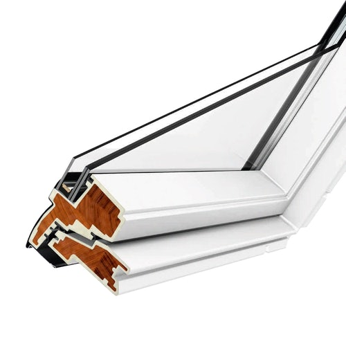 VELUX GPU CK06 0034 White Top Hung Window Obscure - 55cm x 118cm